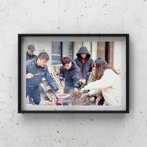 Friendship . Class Reunion DLS High Barbecue Grill Men Group Of People Adult Males  Young Adult Young Men People Friendship Outdoors
