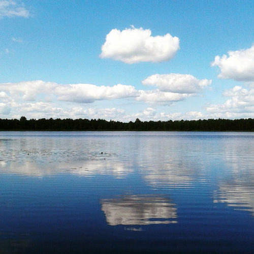 Estonia Wood Beauty In Nature Cloud - Sky Day Eesti Lake Landscape Nature No People Outdoors Placid  Reflection Scenics Simmetry Sky Tranquil Scene Tranquility Tree Water