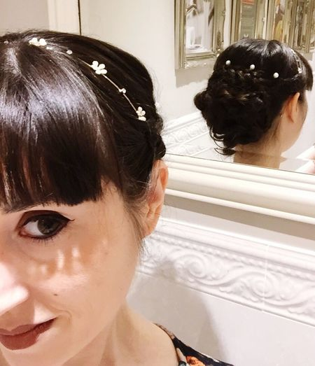 Wedding Hair Pearls Hairstyle Hairdressing