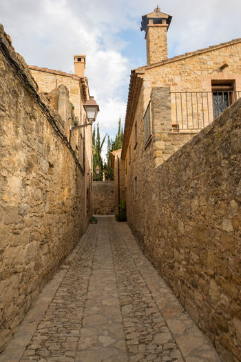 Catalonia Country Rural SPAIN Ancient Architecture Building Exterior Built Structure Cloud - Sky Day Girón History Medieval No People Old Outdoors Peratallada Sky The Way Forward Walkway