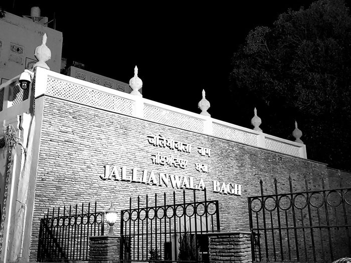 Jallianwala Bagh Monument JallianwalaBagh History Through The Lens  Historical Monuments Massacre Night Photography Blackandwhite Photography No People Only Black And White Photographs Love To Take Photos ❤ Lovelovelove Silence Is Golden
