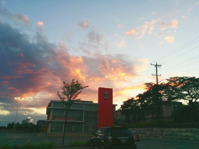 First Eyeem Photo Scenery Sky Sunset Clouds Shopping ♡ Pink Blue Pretty