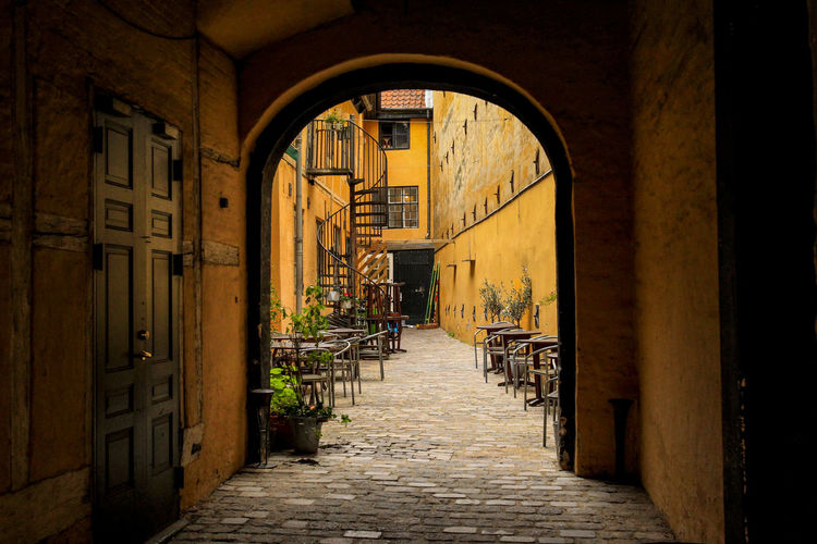 Colors Copenhagen, Denmark Denmark Old Copenhagen Scandinavia Streets Of Copenhagen Travel Architecture Building Exterior Built Structure Copenhagen Day Old Scenics Street Tourism