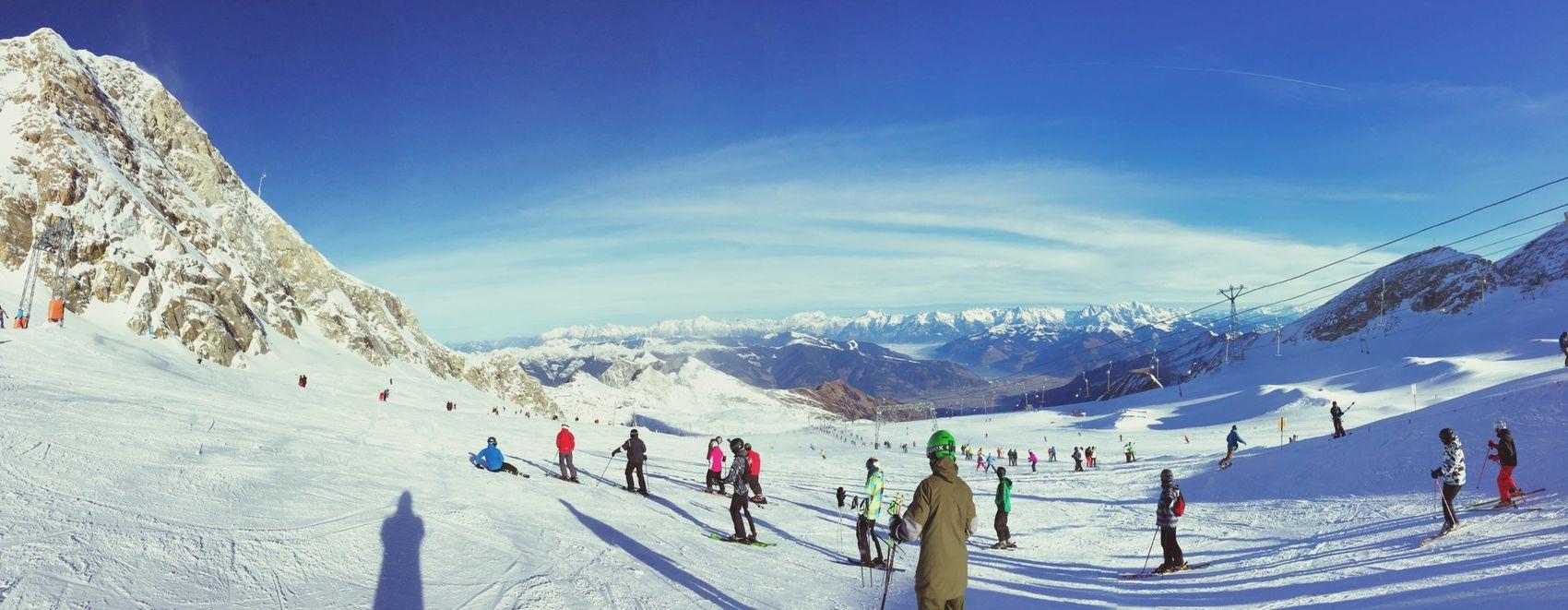 Skiing Snow Enjoying The Sun Sky Enjoying Life Winter Mauntains Landscape