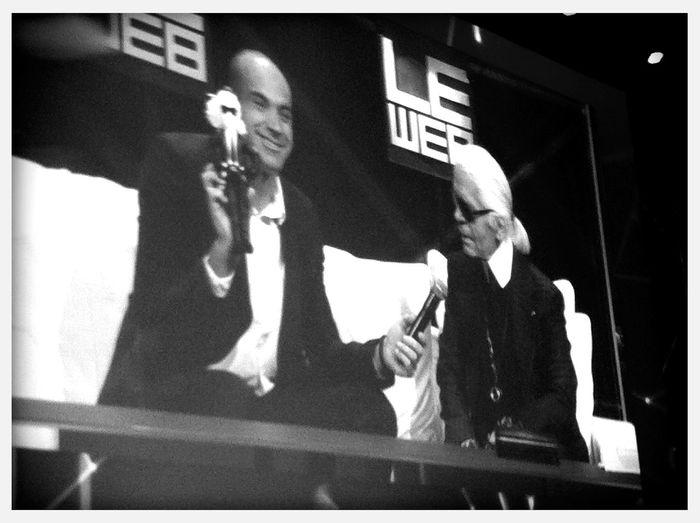 Karl Lagerfeld extravaganza at #Leweb11 Karl Lagerfeld Extravaganza At #Leweb11