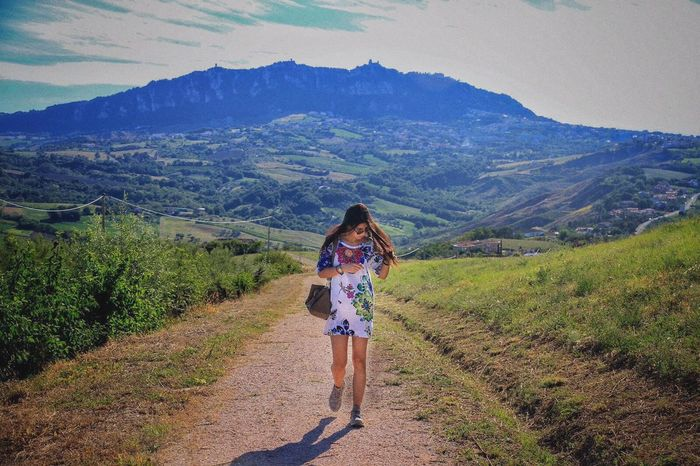 San Marino Country.... Photograph Shooting Hidden Places View Panorama Landscape Girl Walking Around Enjoying The Sun Escaping Summer