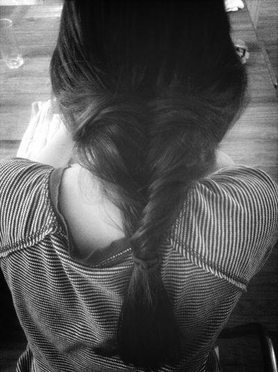 Fishtail Braid on daughter's hair ❤