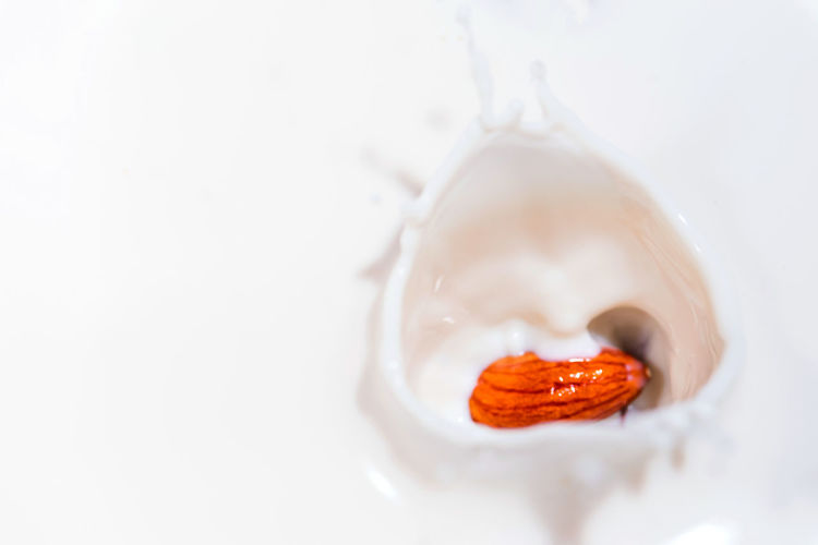 Close-up of ice cream over white background