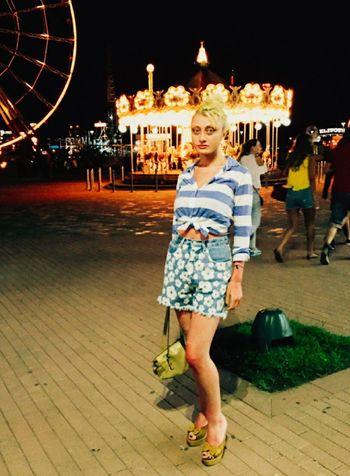 Hello World That's Me Taking Photos Enjoying Life Blonde Girl Sweet Summer Beautiful Nature Beautiful Summer Day Atraction Park Summer Night My Style ❤