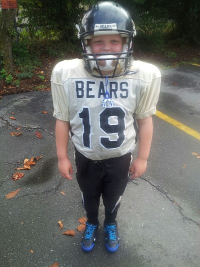 That time of year again footballs just around the corner! Football Season My Boy ❤ Just Smile :) Love It