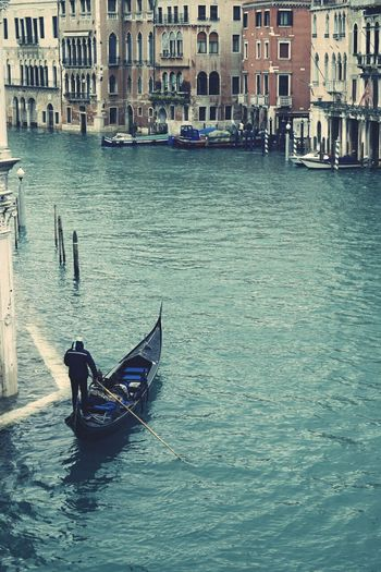 Romantic Gondola Ride On the Grand Canal In the beautiful city of Venice . Romance Lovers Love Waterscape Old And Beautiful City On Water