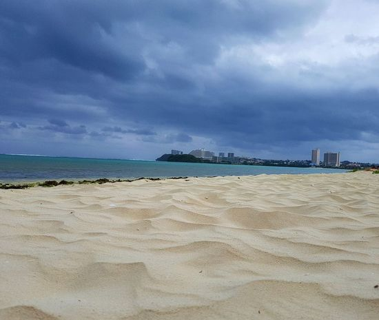 Sea Beach Sand Cloud - Sky Outdoors Nature Gloomy Day Guam
