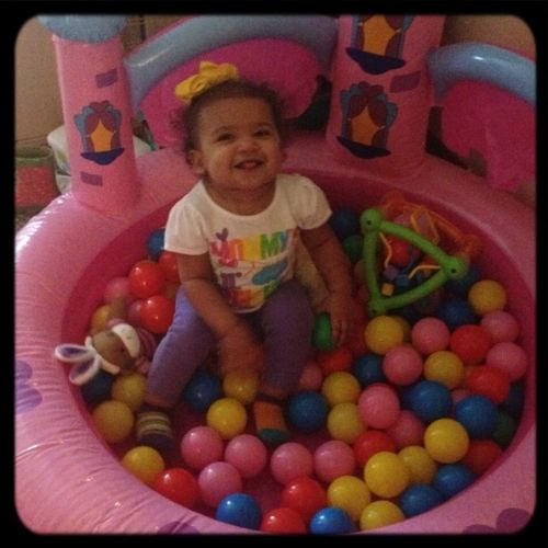 Fun In Her Ball Pit
