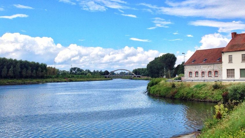 I've just taken this picture during a biking ride ! Nature Landscape Water Reflections Sky_ Collection