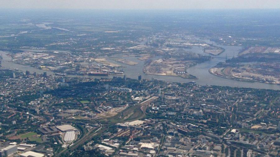 Hamburg aerial II. · Hamburg Germany Hh 040 Hamburgmeineperle Architecture Landscape Cityscape Urban Landscape Aerial View Aerial From An Airplane Window View Great View Ground