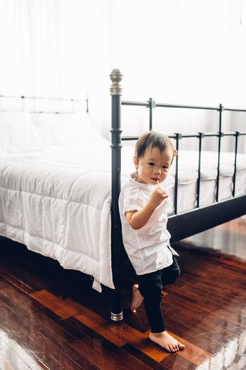 Full length of a toddler boy