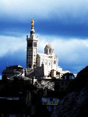 Architecture Bonne Mere Building Exterior Built Structure City Cloud - Sky Day History Icone Low Angle View Marseille Monument No People Outdoors Sky Statue Travel Destinations Tree