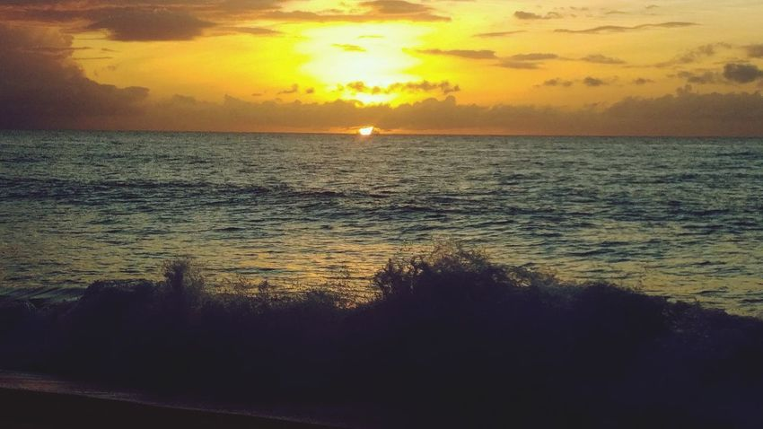 tuesday Home No People Outdoors Emotion Island Ocean Sunset Water Wave Sea Low Tide Sunset Beach Horizon Sunlight Sun Reflection Seascape Atmospheric Mood Power In Nature Moody Sky Coastal Feature Tide Coast Crashing Surf Force Rushing Dramatic Sky Romantic Sky