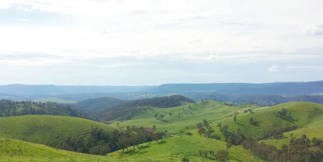 My trip to the Blue mountains on the country side Landscape Country Hills Sky