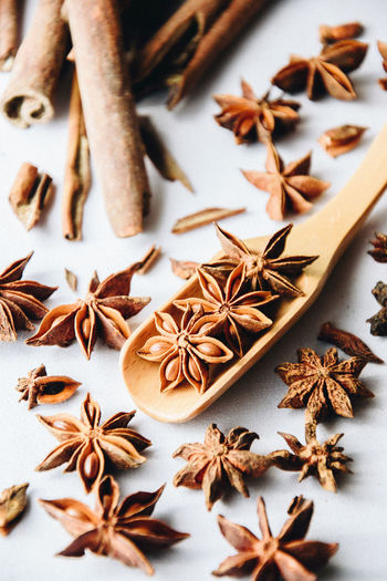 Spice it up! Star Shape Star Anise Anise Large Group Of Objects Cinnamon Brown Spices Spice Food Porn Awards Eyeemphotography EyeEm Gallery Foodstagram Preparation  Freshness Foodphotography EyeEmBestPics Preparing Food EyeEm Best Shots EyeEm Best Edits EyeEm Food Food And Drink White Background Close-up Textured