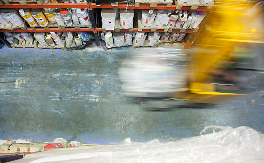 Blurred Motion Construction Industry FLT Fork Lift Truck Motion Motion Blur Movement Photography Speed Warehouse Working