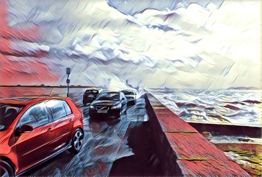 Car No People Outdoors Day Clontarf Ireland Stormy Weather Prisma Art
