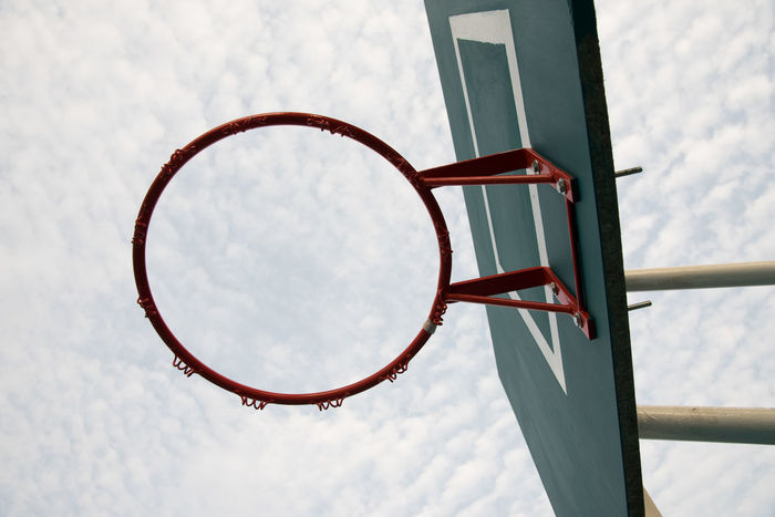 Basketball Basketball - Sport Basketball Hoop Close-up Court Day Leisure Games Low Angle View No People Outdoors Sky Sport
