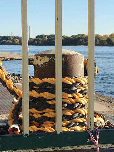Bollard Bollards Nautical Cast Off Rope Water Ropes River Outdoors No People Germany
