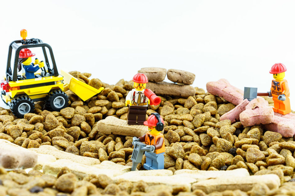 Abundance Boss Choice Construction Construction Work Construction Worker Container Copy Space Day Dog Food Field Food Group Of Objects Heap Large Group Of Objects LEGO Multi Colored Road Showcase April Variation Work