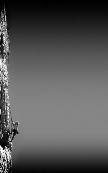 Monochrome Climbing Alpinist