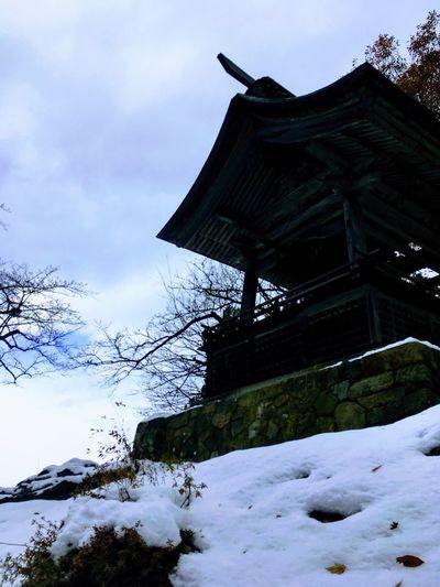てら 寺 山寺 白 建物 ゆき 雪 Snow Winter Cold Temperature Sky Nature Cloud - Sky Architecture