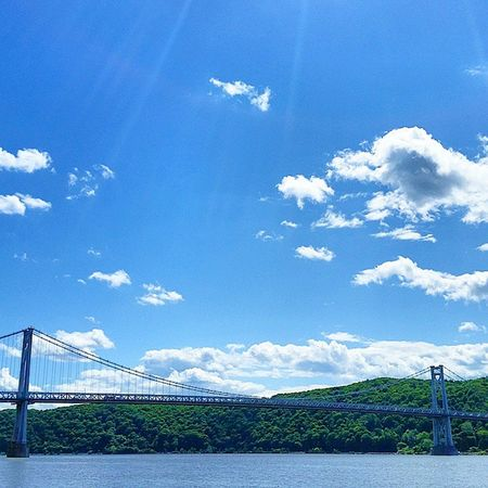 From earlier this year MidHudson Bridge Poughkeepsie Newyork Hudson River Clouds Latergram Blue Sky