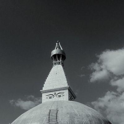 Baudhanath | Under Construction Architecture Buddhism Religion Nepal Nepalearthquake2015 Monochrome