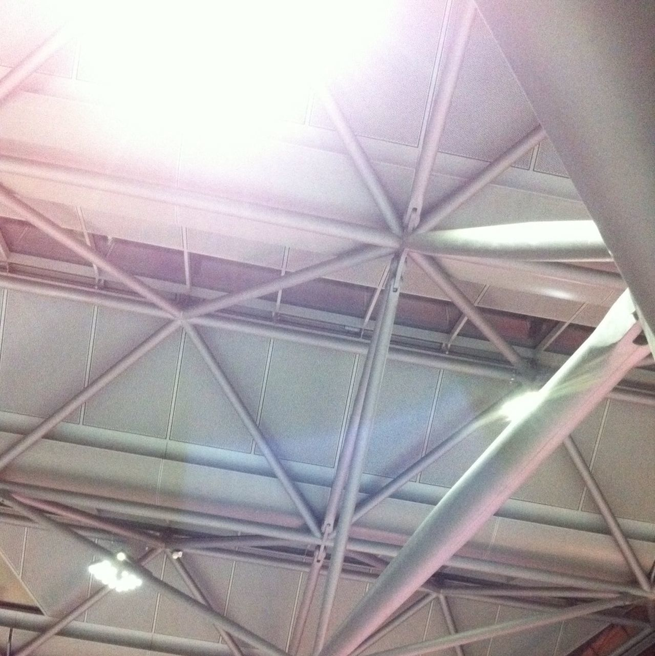 indoors, ceiling, low angle view, illuminated, built structure, architecture, no people, day, close-up