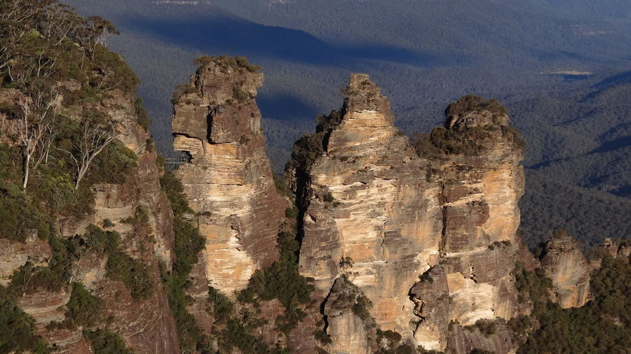 3 Sisters 3 Sisters Blue Mountains. Australia Blue Mountains Arid Climate Beauty In Nature Climate Day Eroded Formation Geology History Katoomba Mountain Mountain Range Nature No People Non-urban Scene Outdoors Physical Geography Rock Rock - Object Rock Formation Rough Scenics - Nature Solid Tranquil Scene Tranquility Travel Travel Destinations