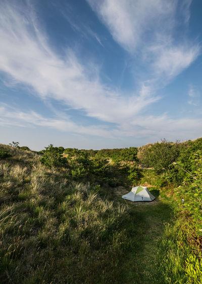 Tent in dune