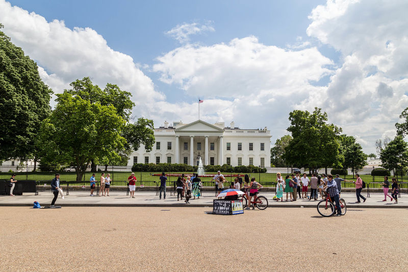 The White House... City City Life Cityscape The White House USA Washington Washington DC Washington, D. C. WashingtonDC America Architecture Built Structure Capital Capital Cities  Capital City Cities Cloud - Sky Day Iconic Iconic Buildings Nature Outdoors Sky Tree White House