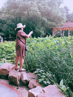 人民公园 Real People One Person Plant Day Hat Growth Standing
