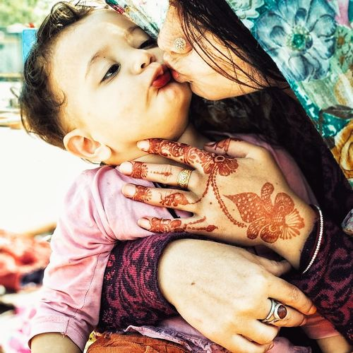 mother's love toward daughter 😍 Love Daughter People Adult Child Day Childhood Close-up One Young Woman Only EyeEm Ready   Visual Creativity This Is Family