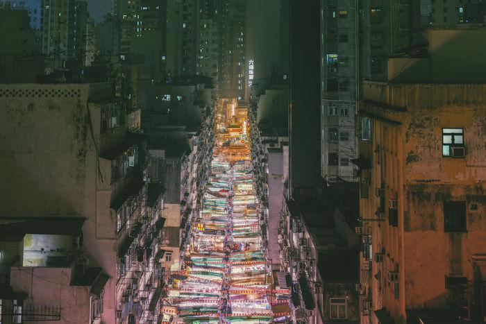 Hong Kong Hong Kong City Hong Kong Architecture HongKong Hongkong Photos Architecture Illuminated Market Night Night Market Retail