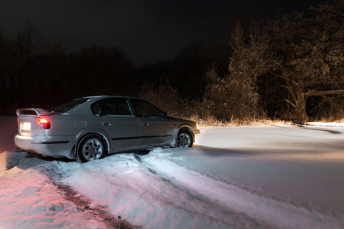 4wd AWD  Fun Subaru Car Cold Cold Temperature Frozen Ice Illuminated Land Vehicle Nature Night No People Outdoor Fun Outdoor Photography Outdoors Skidmarks Sky Snow Transportation Tree Weather Winter