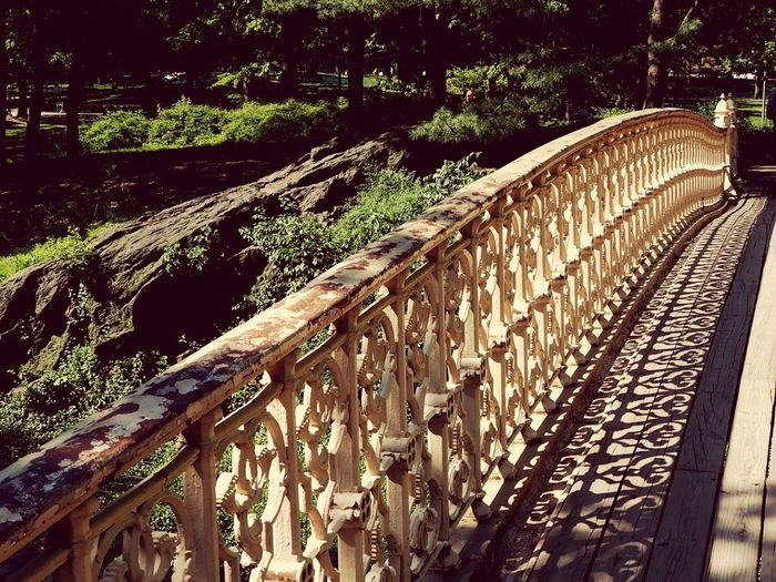 A sunny day in Central Park Central Park - NYC Sunshine Shadow Footbridge No People Sunlight ☀