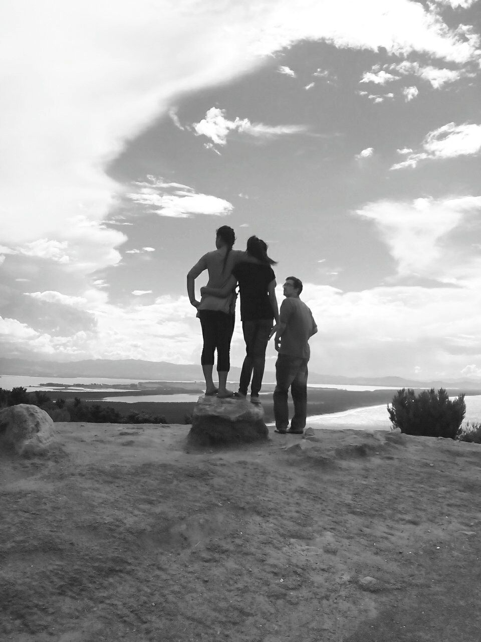 sky, cloud - sky, togetherness, full length, real people, two people, men, nature, beauty in nature, landscape, day, standing, lifestyles, outdoors, friendship, people