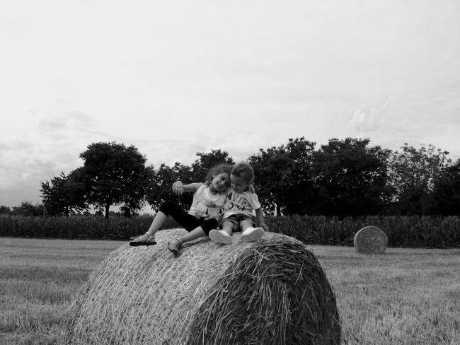 Tree Outdoors Heart ❤ Blackandwhite Nephew ♡ Babyboy ❤ Babies Only Myeverything💋 Togetherness AuntieTime Bonding Niece 💕 Niece & Nephew Field Ballfields