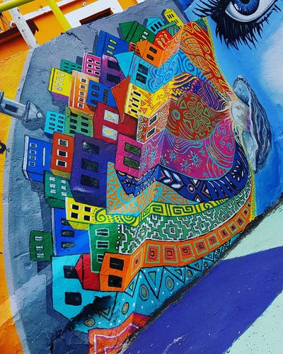 Multi Colored Close-up ArtWork Drawing