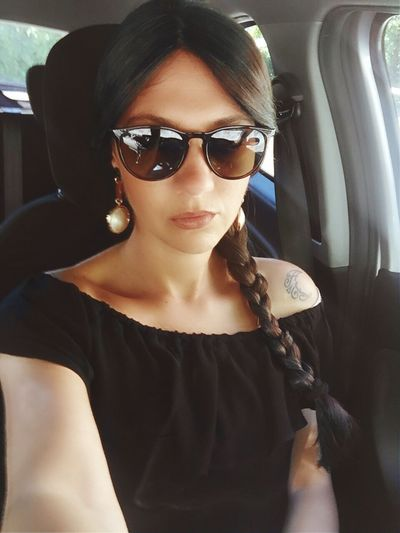 Summer Sunglasses Car Vehicle Interior Young Women Young Adult Car Interior Mode Of Transport Lifestyles Real People One Person Land Vehicle Women Close-up Beautiful Woman Day Indoors  One Young Woman Only