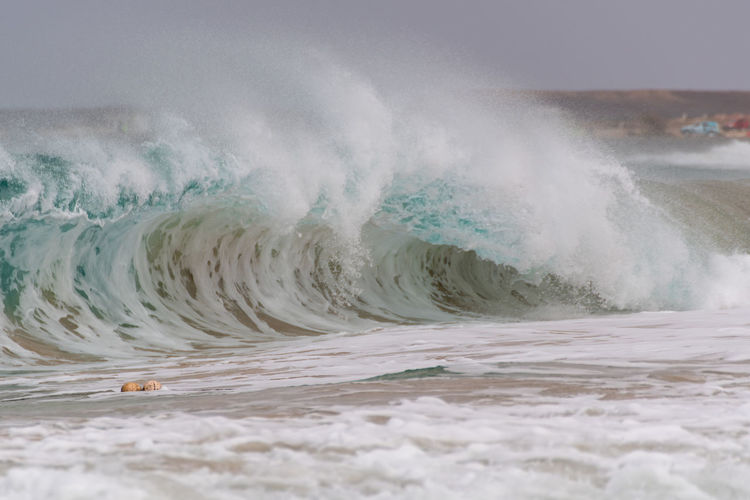 Hoffi99 Cape Verde Waves Atlantic Ocean Strong Waves Power Power In Nature Sea Motion Water Wave Beauty In Nature No People Force Day Sport Nature Scenics - Nature Waterfront Aquatic Sport Crash Beach Outdoors Breaking Hitting