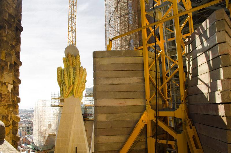 Sculpture At Construction Site At Sagrada Familia