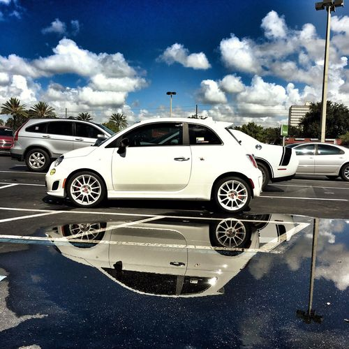NEM Clouds NEM Submissions Parked Dramatic Sky Appwhisper Fiat Abarth AbarthOnly First500