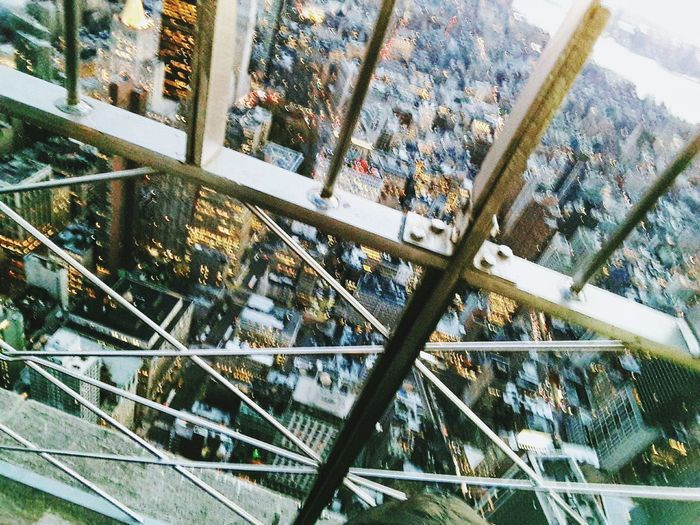 Architecture Built Structure Day City Metal Outdoors Building Exterior Modern No People Skyscraper Sky Looking Down From Above Empire State New York, New York Travel Destinations Aerial View High Angle View Flying High